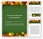 Nature & Environment: Falling Leaves Border Frame Word Template #14208
