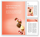 Food & Beverage: Ice Cream Madness Word Template #14217