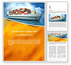 Cars/Transportation: Sea Freight Word Template #14225