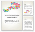 Education & Training: Question Mark with Curiosity Questions Word Template #14233
