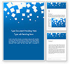 Abstract/Textures: White Flat Squares on Blue Word Template #14237