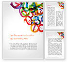 Education & Training: Numbers Background Word Template #14238