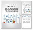 3D: Smart House Word Template #14243
