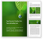Nature & Environment: Planet Earth Dew Drop  Word Template #14247