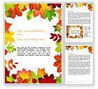 Nature & Environment: Fall Leaves Border Frame Word Template #14255