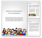 People: International Children's Day Word Template #14257