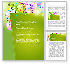 Holiday/Special Occasion: Happy Birthday Background Word Template #14258