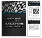Holiday/Special Occasion: Silver Shiny Ten Year Anniversary Word Template #14271