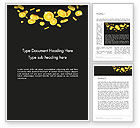 Financial/Accounting: Falling Coins Word Template #14275