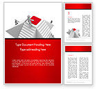 Careers/Industry: Businessmen Climbing a White Pyramid Word Template #14281