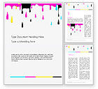 Careers/Industry: CMYK Ink Color Paint Word Template #14282