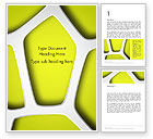 Nature & Environment: Organic Geometry Word Template #14284