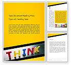 Business Concepts: Word Think Word Template #14295