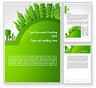 Nature & Environment: Green City Concept Word Template #14299