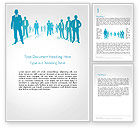 People: Silhouettes of Men in Suits and Ties Word Template #14310