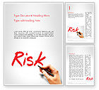 Business Concepts: Hand Writing Risk Word Template #14317