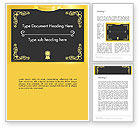 Education & Training: Gold Certificate Frame Word Template #14326