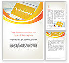 Education & Training: E-Learning Student Study Online Word Template #14328