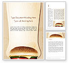 Food & Beverage: Cheeseburger Word Template #14331
