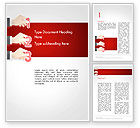 Business Concepts: Human Hands with Numbers Word Template #14339