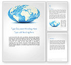 Global: World Globe in Hammer-Aitoff Projection Word Template #14341