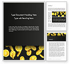 Financial/Accounting: Falling Dollar Coins Word Template #14342
