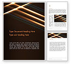 Abstract/Textures: Elegant Beam of Glowing Energy Lights Word Template #14351