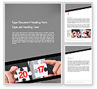 Business Concepts: Hands and Puzzle 2017 Word Template #14359