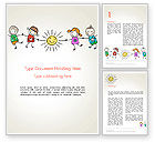 Education & Training: Children's Day Word Template #14363