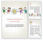 Education & Training: Plantilla de Word - día del niño #14363