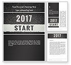 Business Concepts: Message Start 2017 on Asphalt Road Word Template #14367