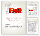 3D: 3D Small Person Standing Next to FAQ Word Template #14371
