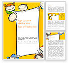 Education & Training: Cute Cartoon Kids Holding a Canvas Word Template #14380