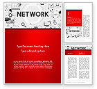 Technology, Science & Computers: Network Communication Connection Word Template #14381