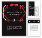 Education & Training: Certificate Border and Stamp Word Template #14382