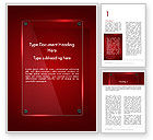 Abstract/Textures: Glass Plate on Red Background Word Template #14387
