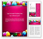 Holiday/Special Occasion: Colorful Balloons Festive Word Template #14389