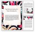Careers/Industry: Sets of Cosmetics Word Template #14390