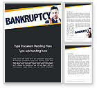 Financial/Accounting: Businessman Pointing the Text Bankruptcy Word Template #14405