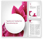 Holiday/Special Occasion: Leaves and Pink Wave Abstract Word Template #14410