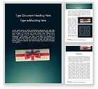 Holiday/Special Occasion: Gift Box with Red Ribbon Word Template #14413