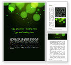Abstract/Textures: Green Magic Light Abstract Word Template #14420