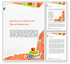 Education & Training: School Theme Background Word Template #14424