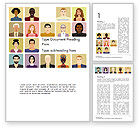People: Avatars in Cartoon Style Word Template #14427