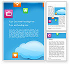 Technology, Science & Computers: Hybrid Cloud Storage Word Template #14433