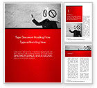 Business Concepts: Ad Blocking Word Template #14442