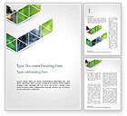 Abstract/Textures: Geometric Shapes on White Background Word Template #14443