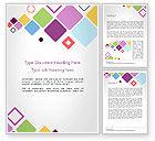 Abstract/Textures: 飞行方形形状抽象Word模板 #14452