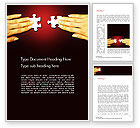 Business Concepts: Woman Hands with Puzzle Pieces Word Template #14456