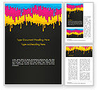 Abstract/Textures: Dripping CMYK Paint Word Template #14459